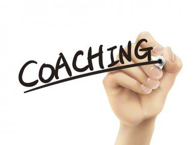 Coaching service written by hand