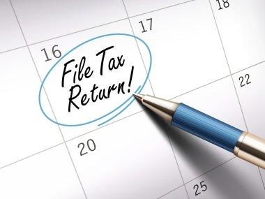 file tax return words
