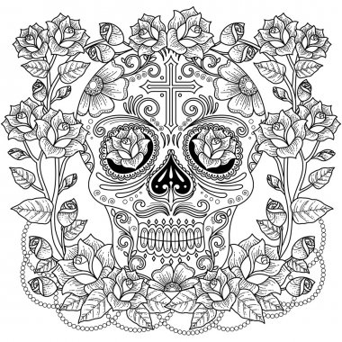 Fantastic adult coloring page