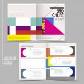 Fotografia moderno colorato geometrico stile Half-fold brochure modello