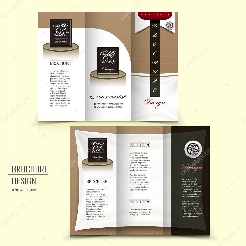 Broschüre Mattblau Vorlage für Restaurant Werbung — Stockvektor ...