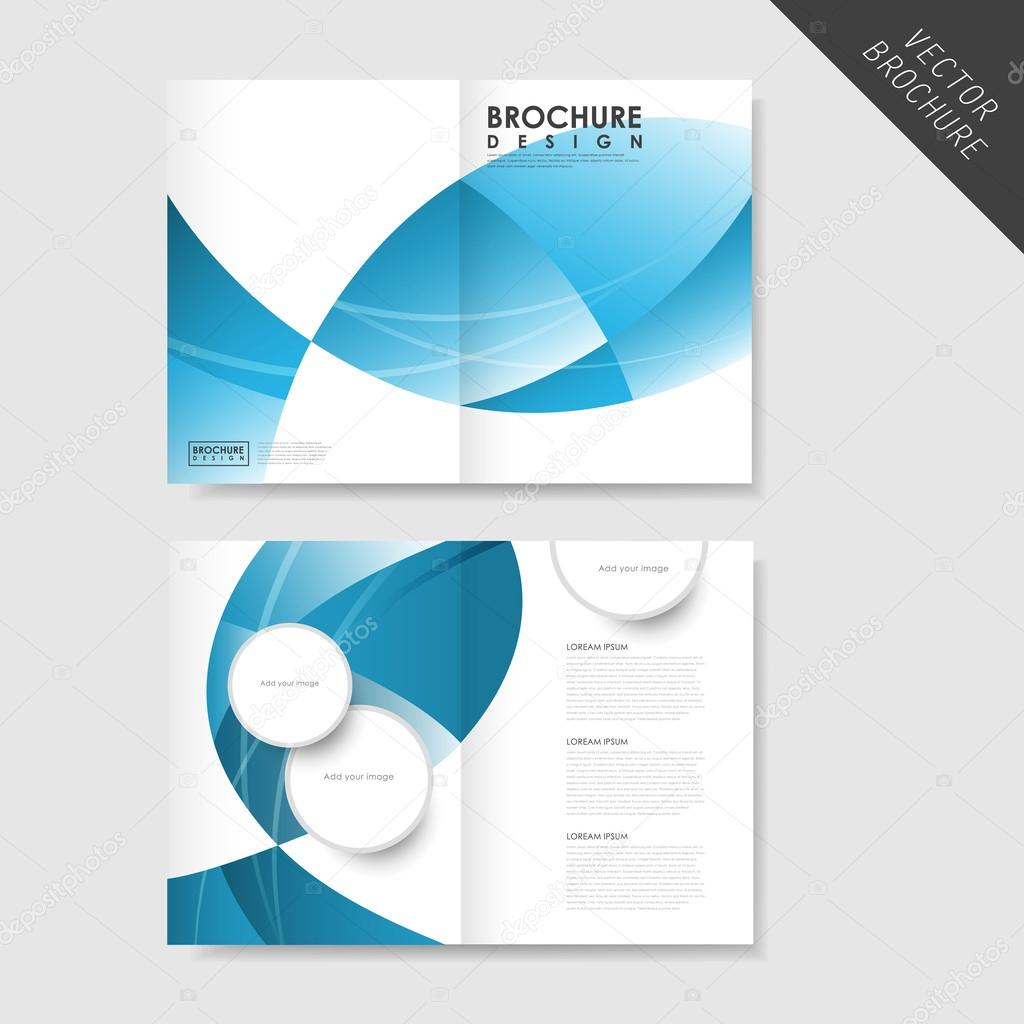 half page brochure template - modern streamlined half fold brochure template stock