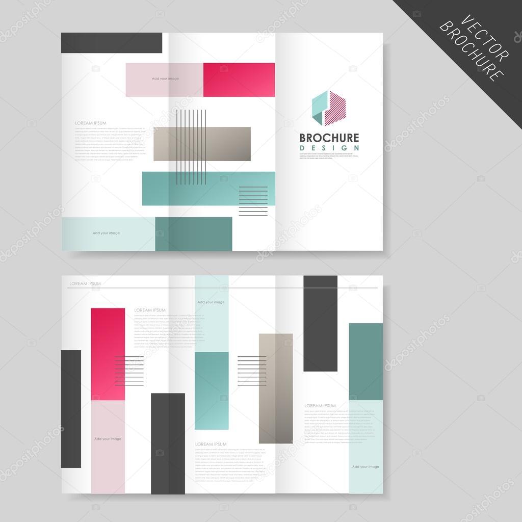 fc89252556f02 Plantilla folleto tríptico abstracto geométrico para el negocio — Archivo  Imágenes Vectoriales