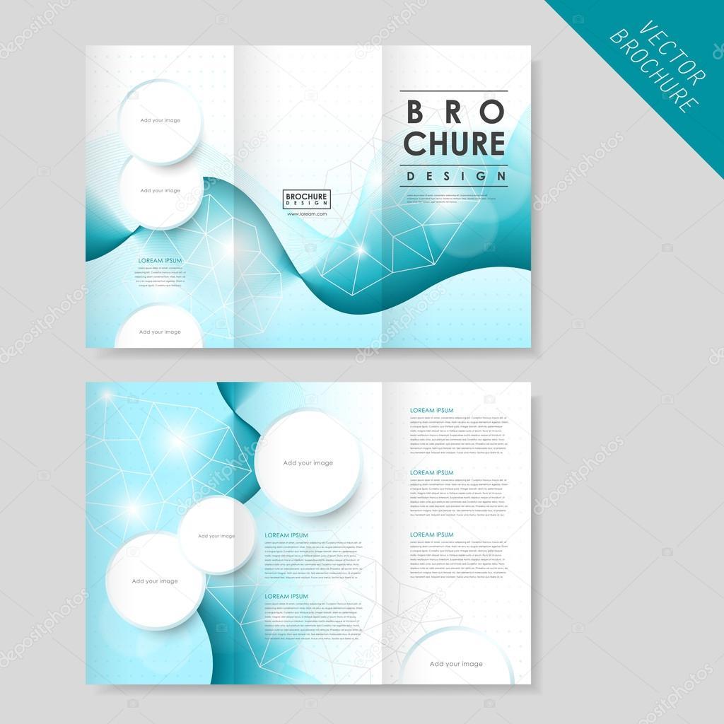 72d08f1f41a58 Plantilla folleto tríptico abstracto moderno para el negocio — Vector de  stock