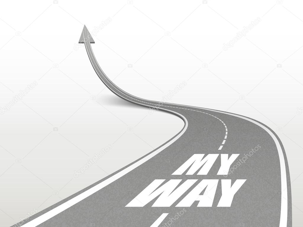 my way words on highway road