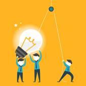 Flaches Design für Team-Arbeit-Konzept