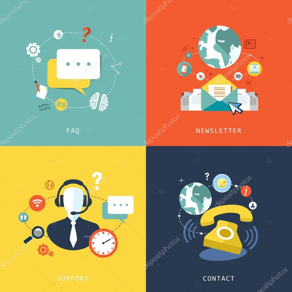 flat design for customer service concept