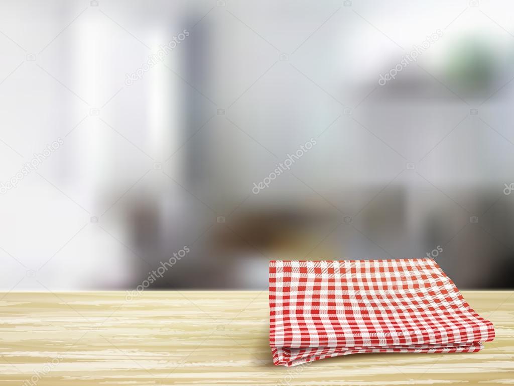 Gros plan de bureau en bois et de la nappe dans la chambre u image