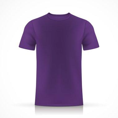 purple T-shirt template