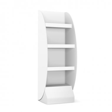 blank display with shelves