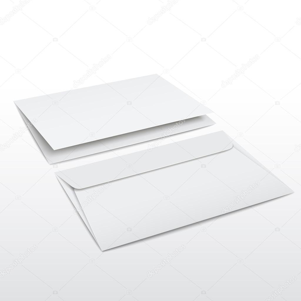 Leeren Umschlag Und Brief Vorlage Stockvektor Kchungtw 53580431