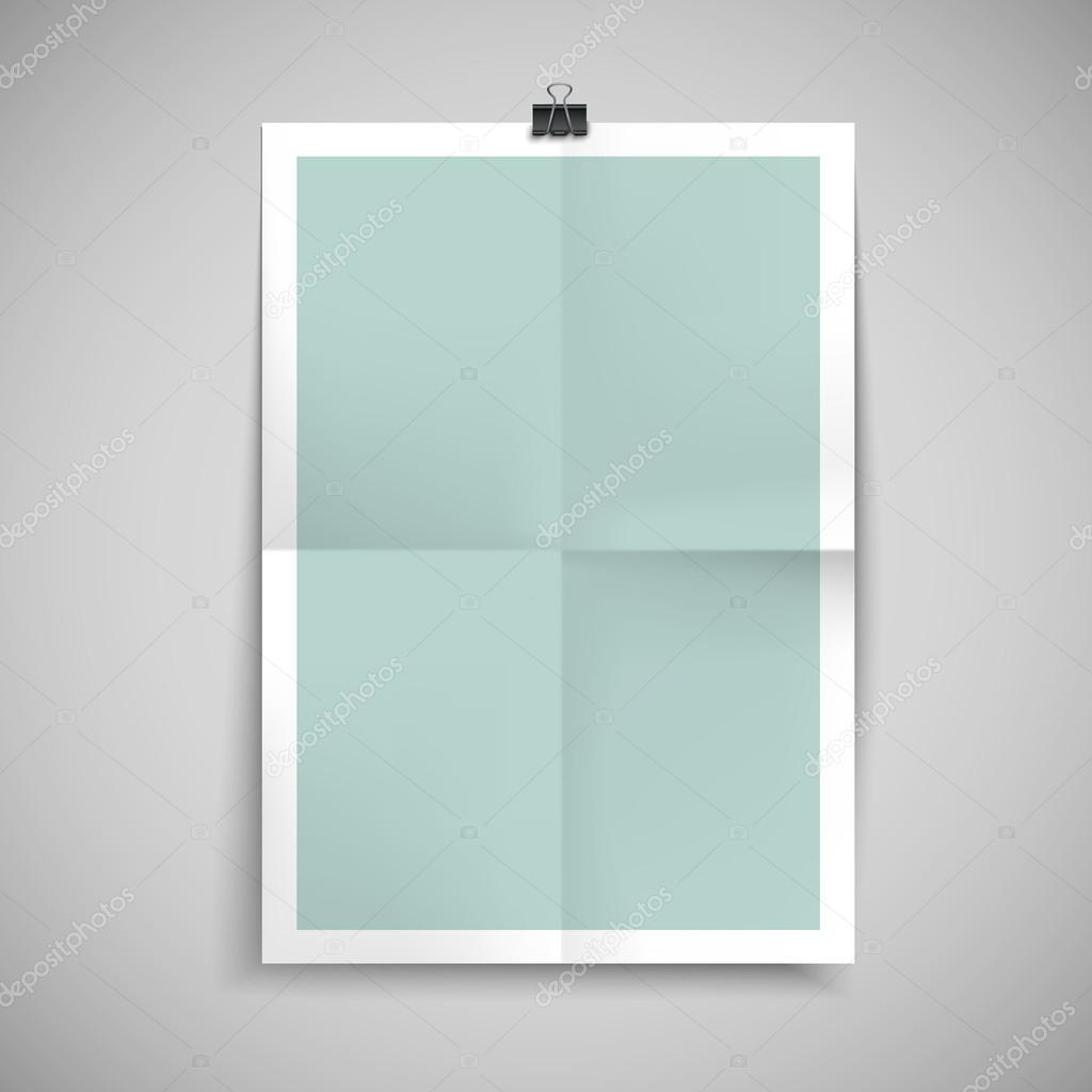 Paper Blank Brochure Template Stock Vector Kchungtw - Blank brochure templates