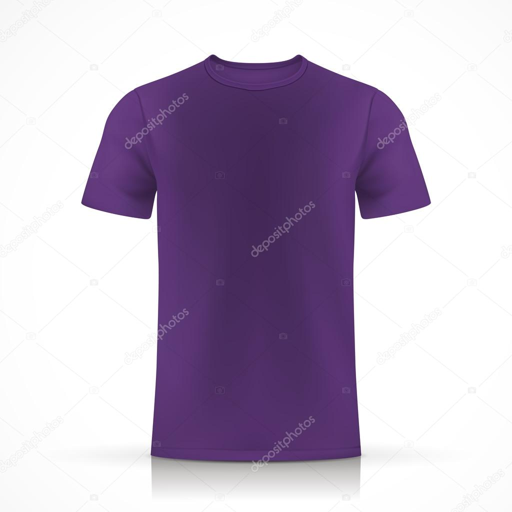 紫色の t シャツ テンプレート ストックベクター kchungtw 53580871
