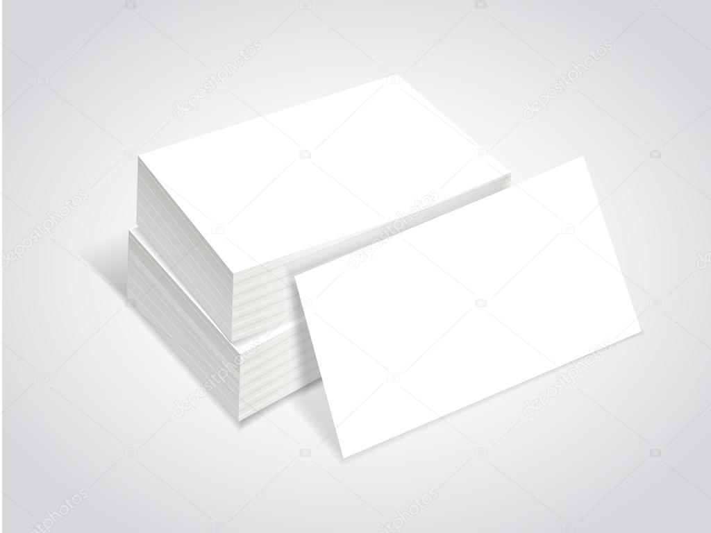 stack of blank business card — Stock Vector © kchungtw #53582541