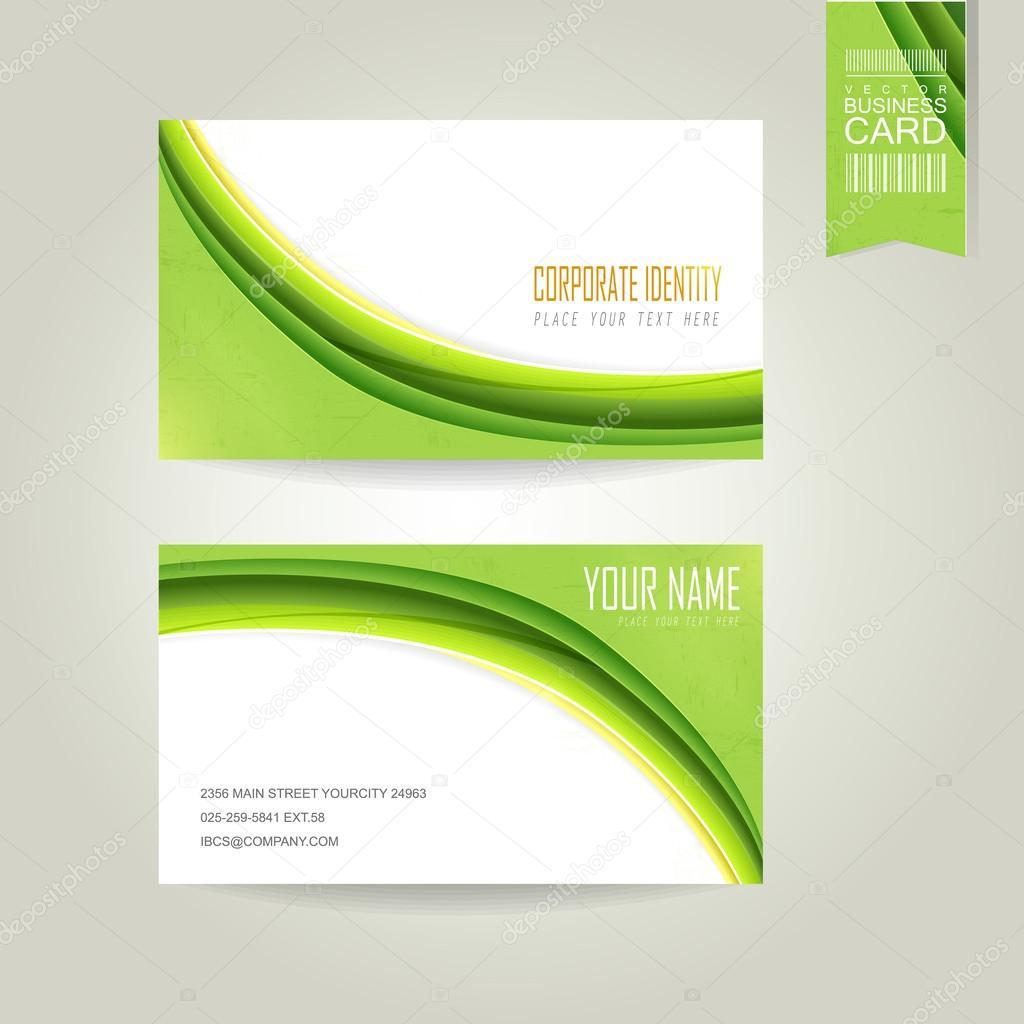 ecology concept background business card — Stock Vector © kchungtw ...