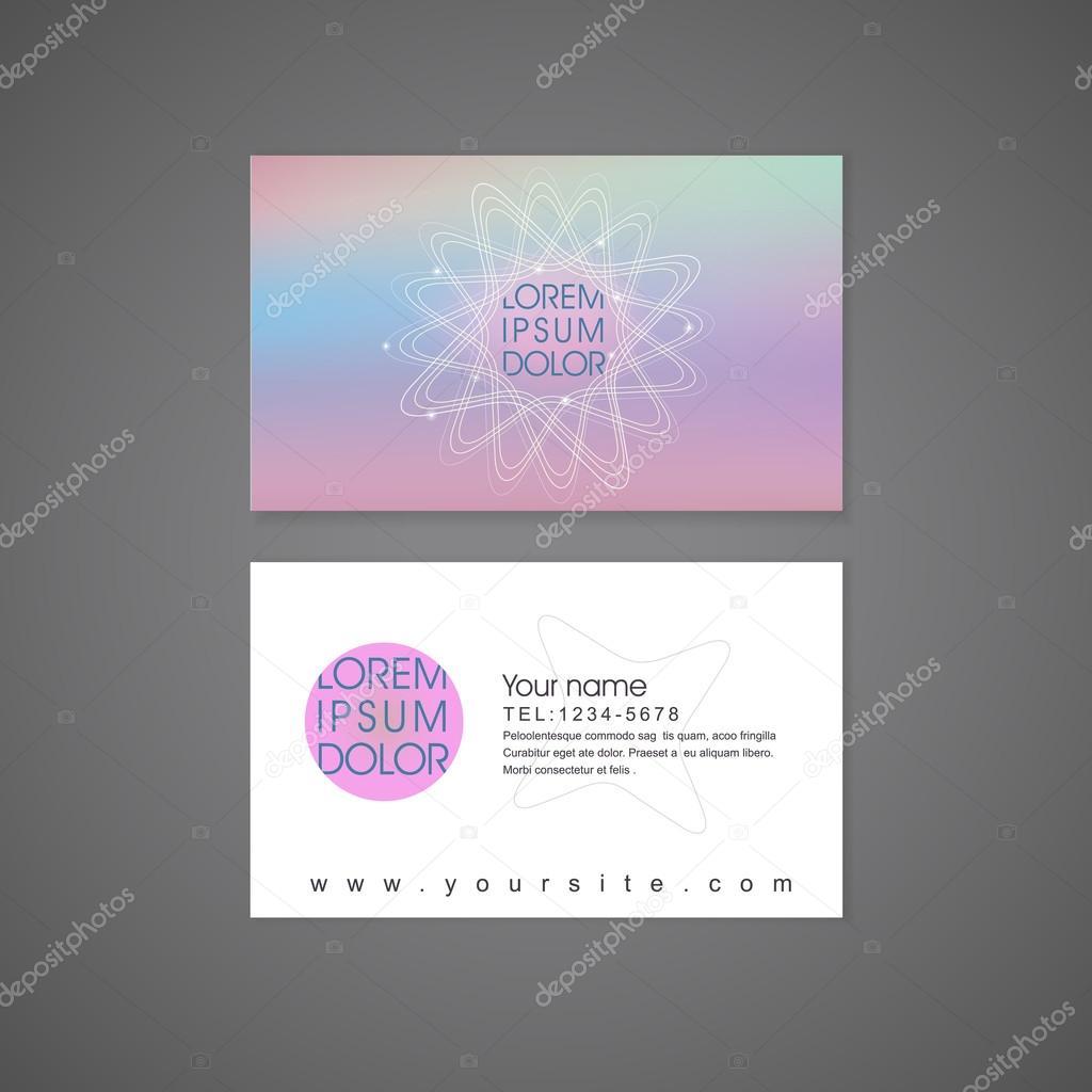 Modle De Carte Visite Fond Abstrait Fleur Colore Forme Vecteur Par Kchungtw