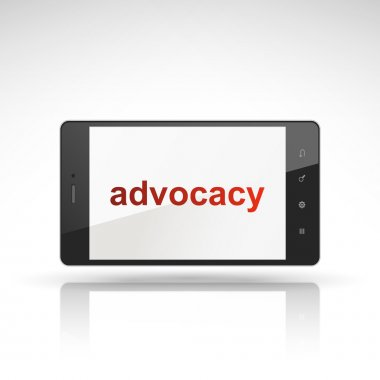 Advocacy word on mobile phone