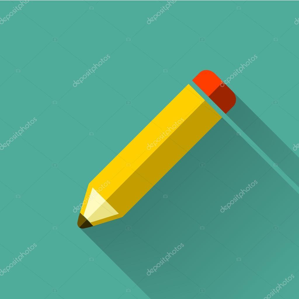 colorful flat design pencil icon � stock vector 169 kchungtw