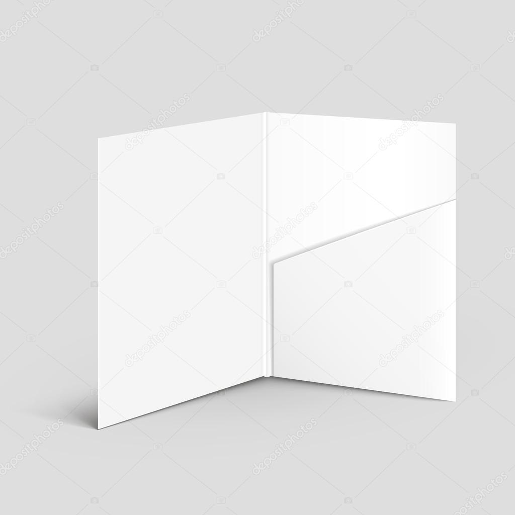 weiße leere Ordner öffnen-Vorlage — Stockvektor © kchungtw #55494625
