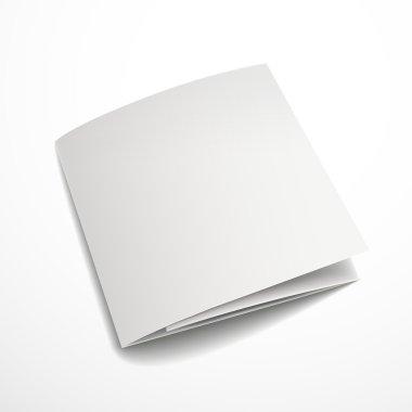 blank tri-fold brochure design