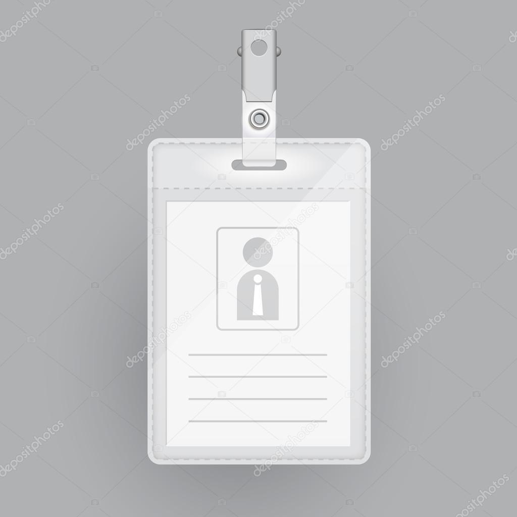 plantilla en blanco tarjeta de identificación — Archivo Imágenes ...