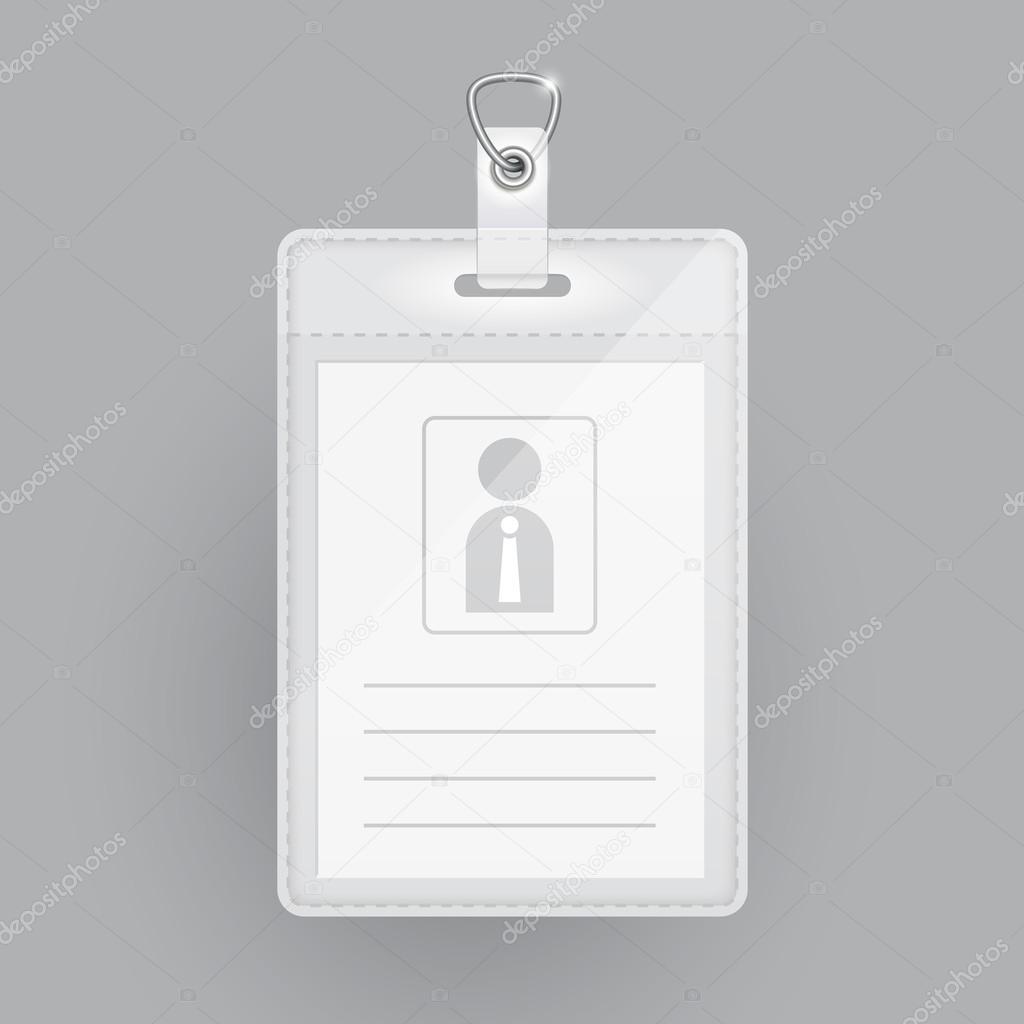 plantilla en blanco tarjeta de identificación — Vector de stock ...