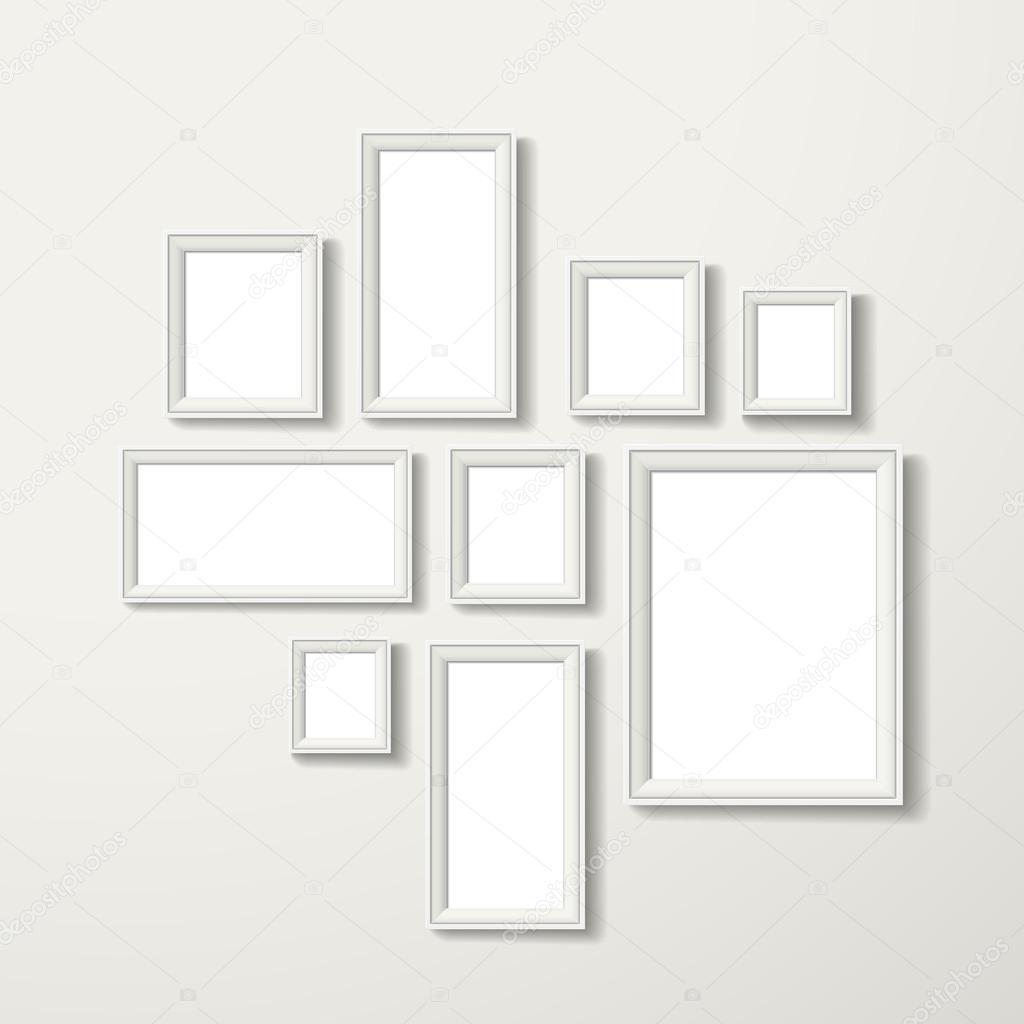 conjunto de marcos en blanco — Vector de stock © kchungtw #55836199