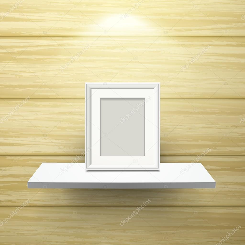 Bilderrahmen auf Regal mit Beleuchtung — Stockvektor © kchungtw ...