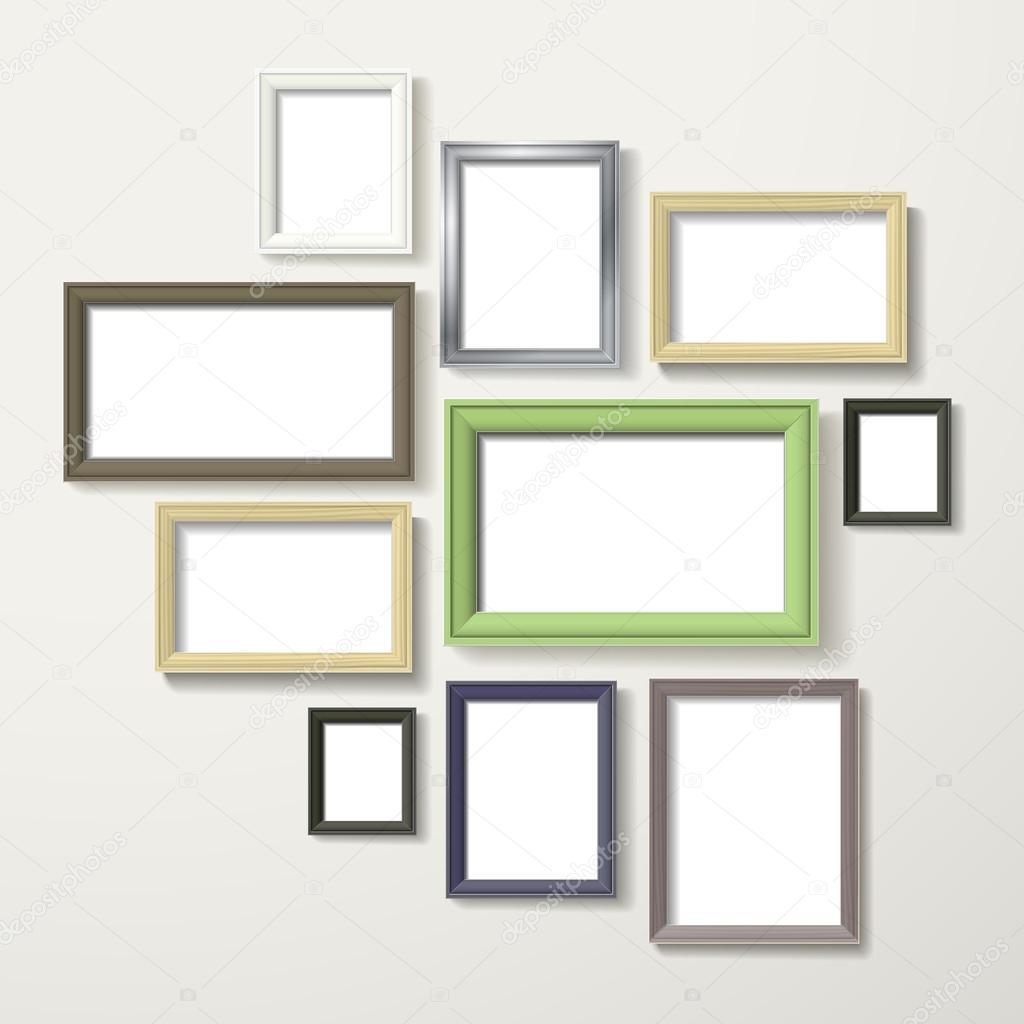 conjunto de marcos en blanco colorido — Vector de stock © kchungtw ...