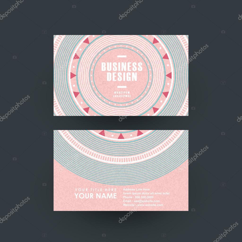 pink vinyl record design for business card — Stock Vector © kchungtw ...