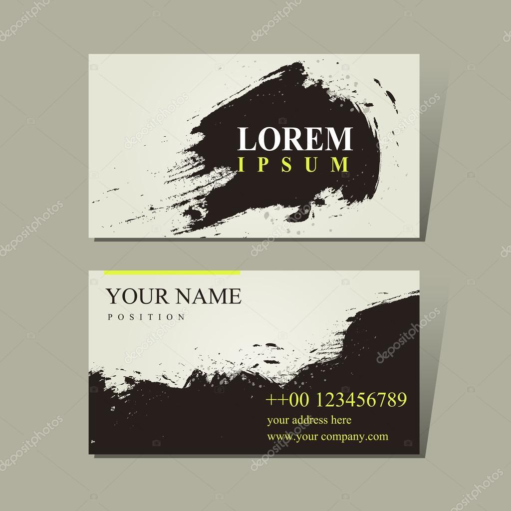 Abstrait Design Calligraphie Chinoise Pour Cartes De Visite Image Vectorielle