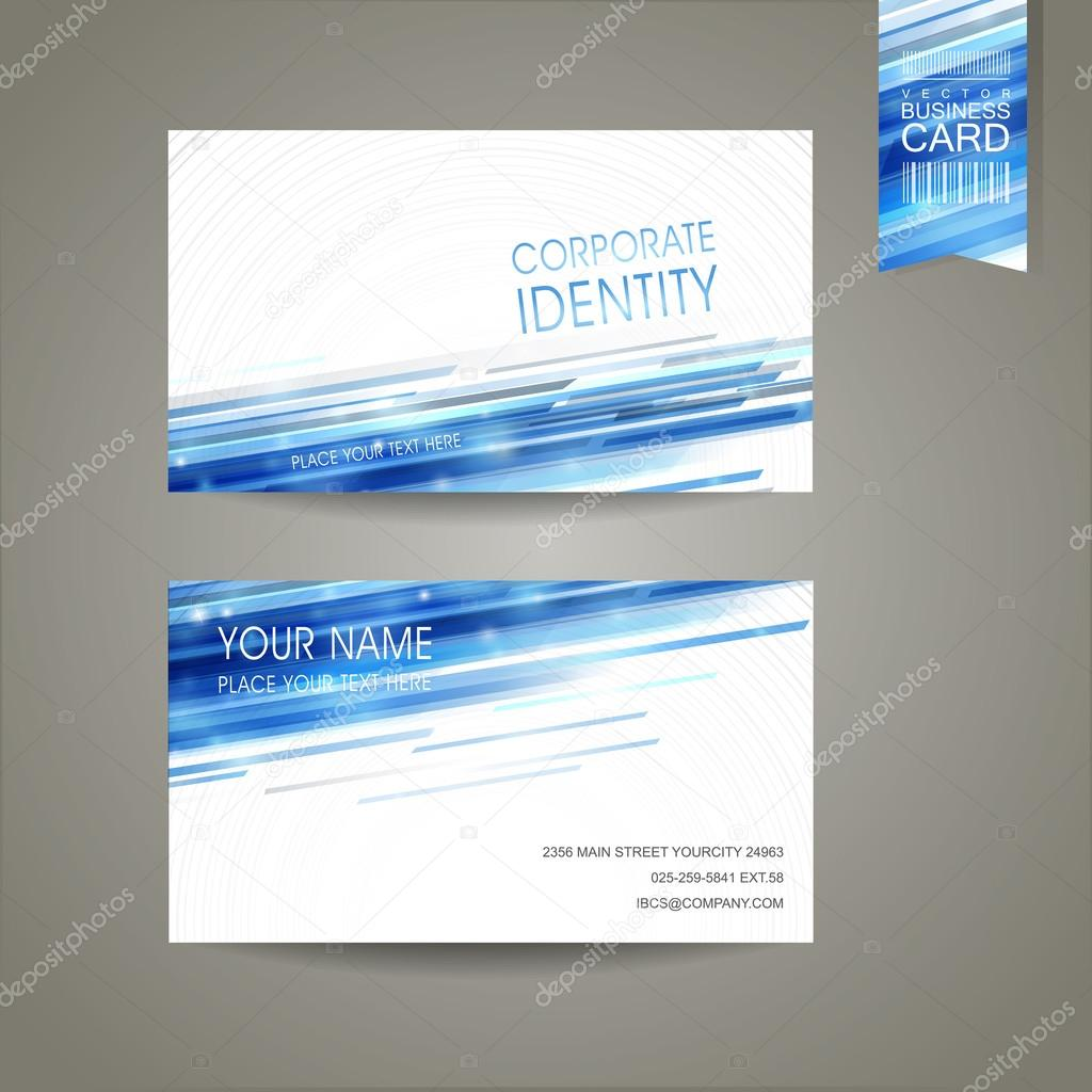 abstract technology background design for business card
