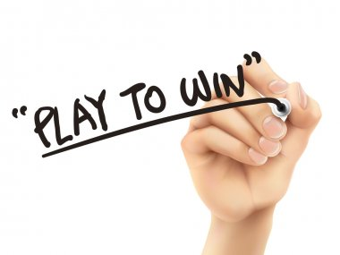 play to win words written by 3d hand