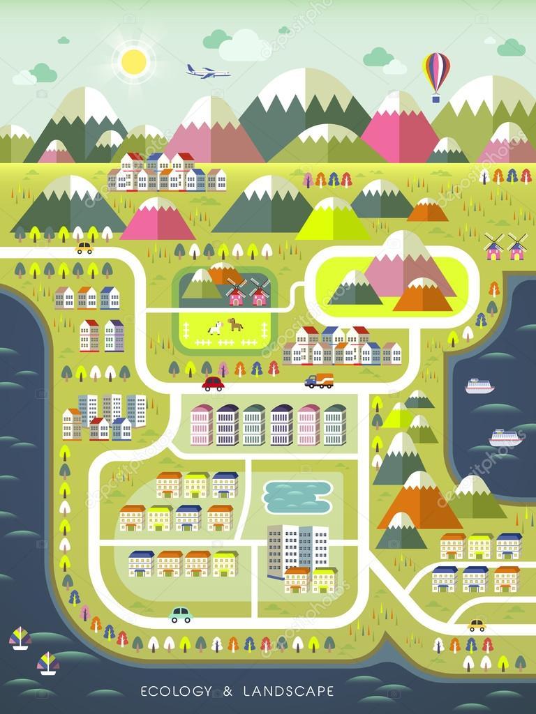 lovely ecology concept flat design