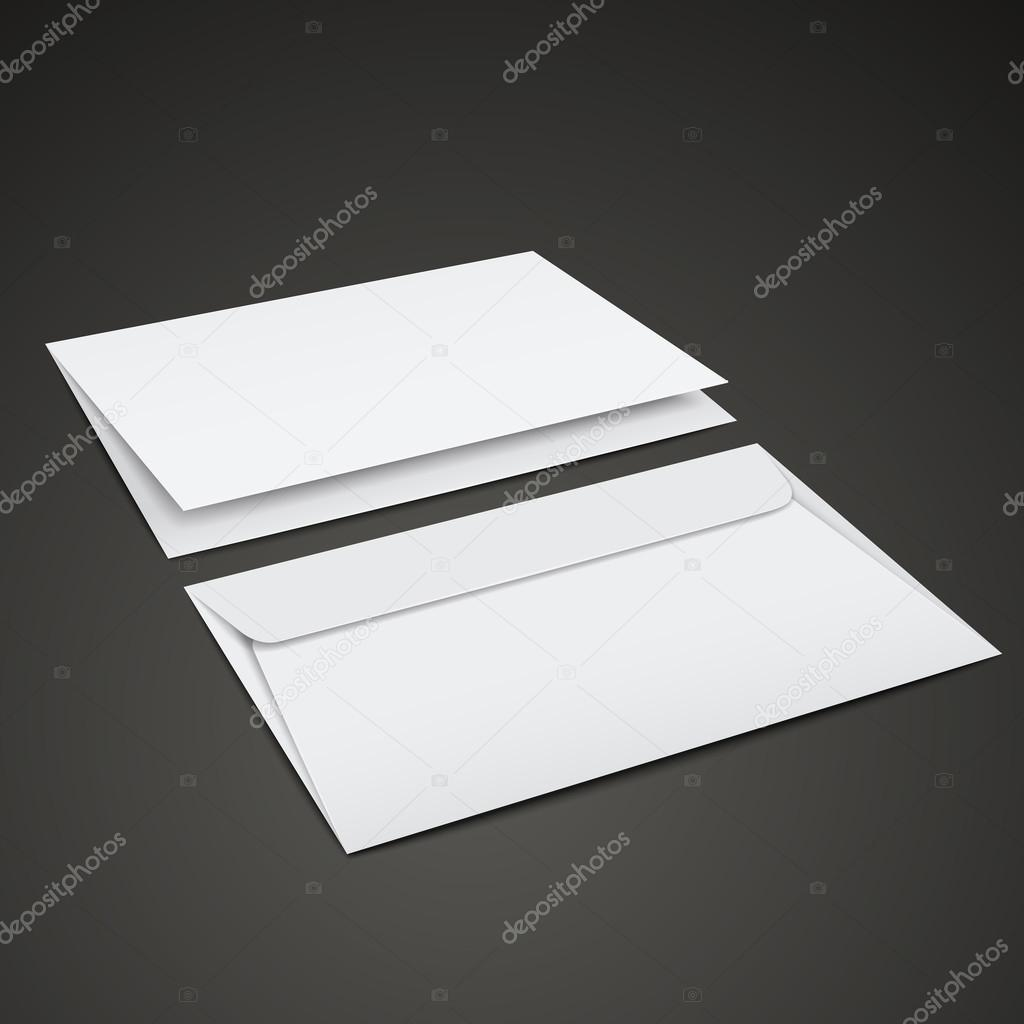 blank envelopes template stock vector kchungtw 57978945