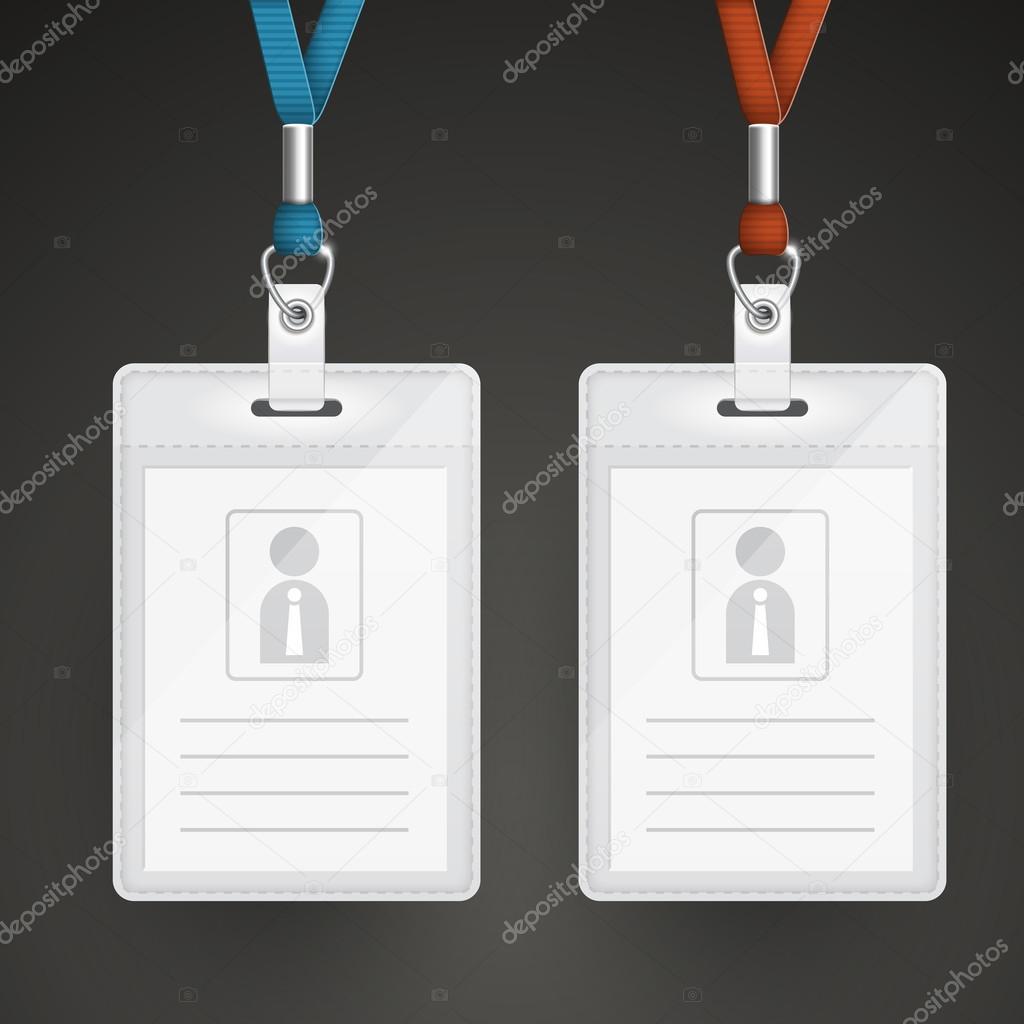 set plantillas de tarjetas de identificación en blanco — Vector de ...
