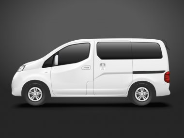white commercial van