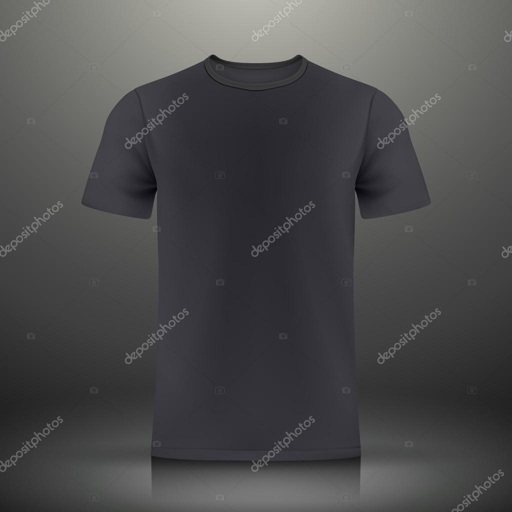 Black T Shirt Template Stock Vector Kchungtw 57980695
