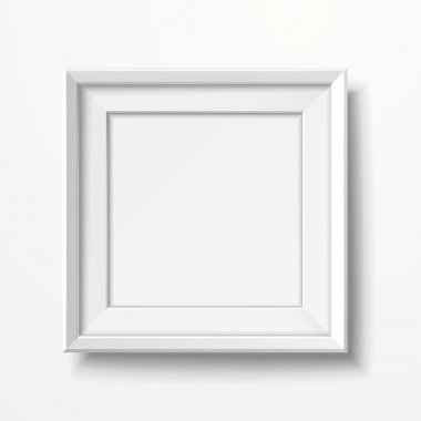 blank picture frame isolated on white