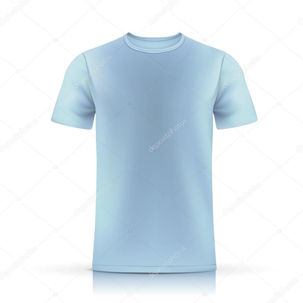 Light Blue T Shirt Template Stock Vector Kchungtw 58395927