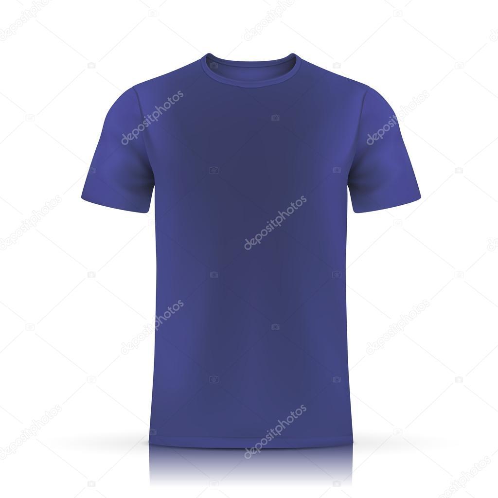Blue T Shirt Template Stock Vector Kchungtw 58395935