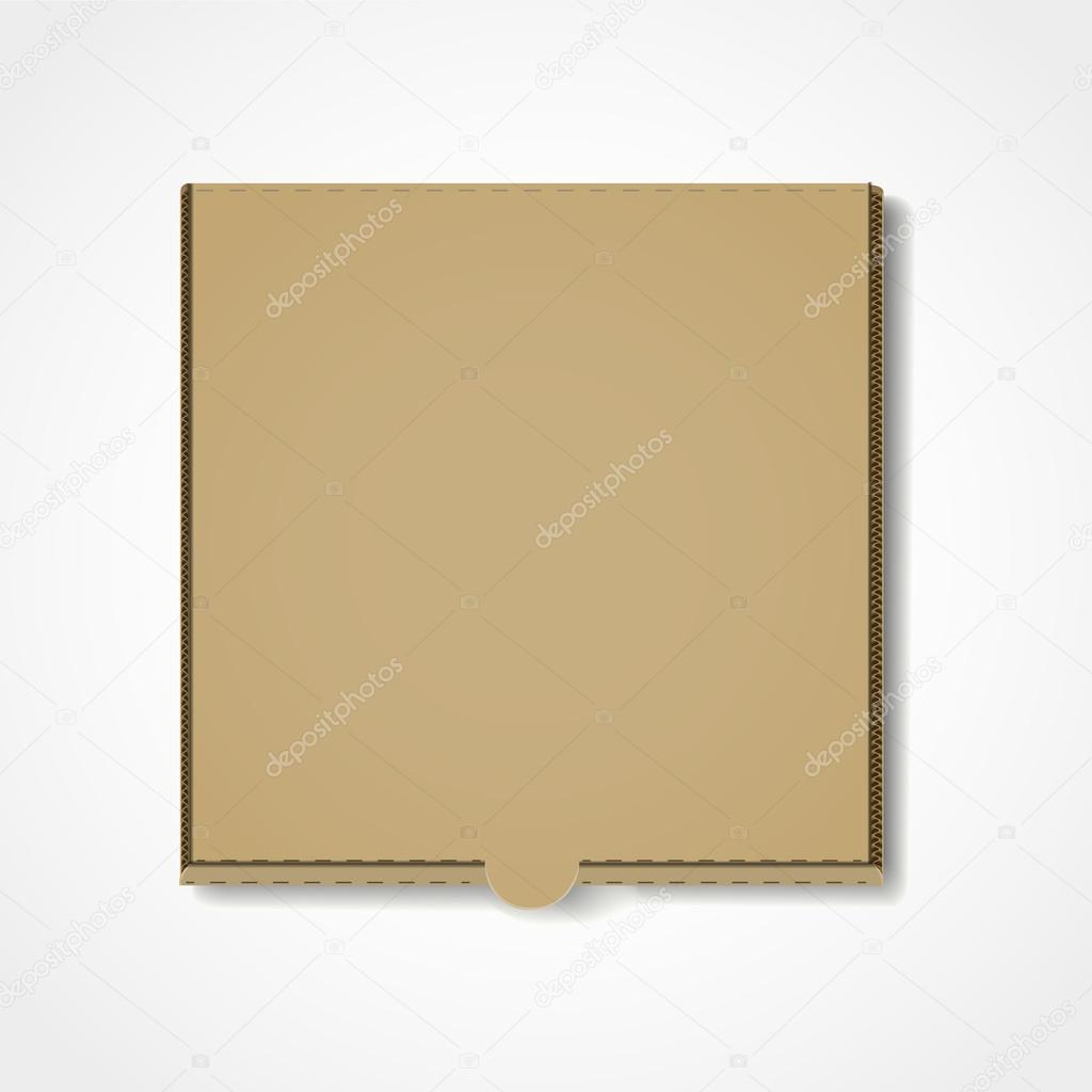 Blank Pizza Box Template Isolated On White Background Vector By Kchungtw