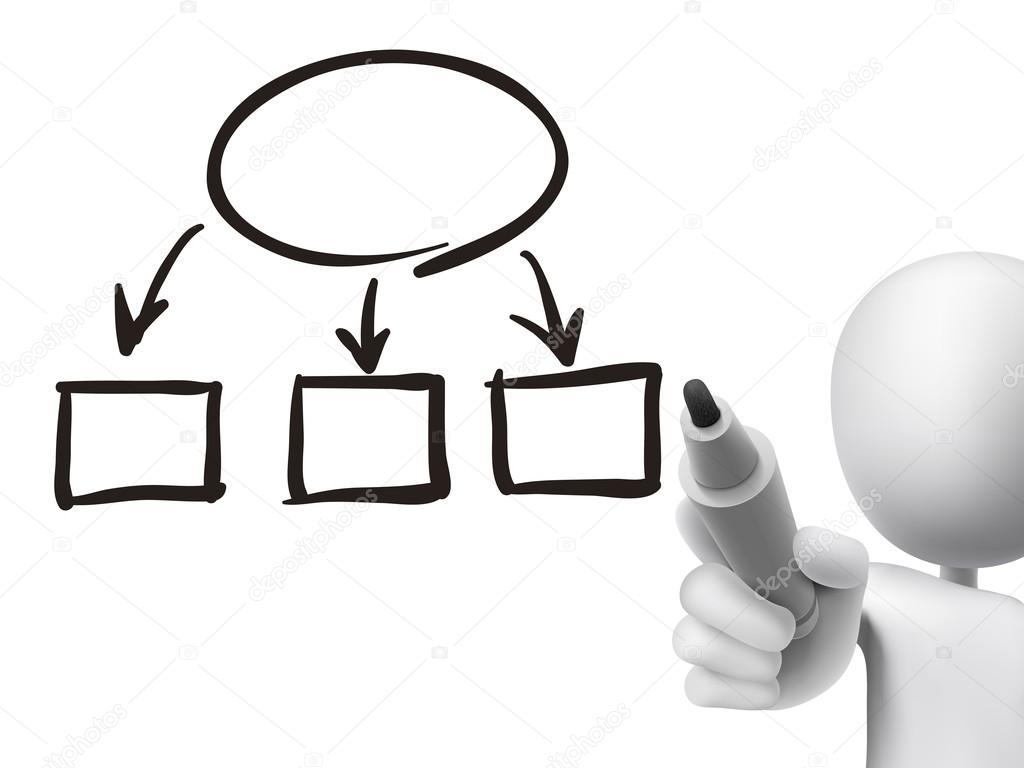 Blank flow chart drawn by 3d man stock vector kchungtw 58844533 blank flow chart drawn by 3d man over transparent board vector by kchungtw nvjuhfo Gallery