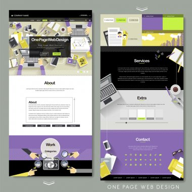 flat one page website template