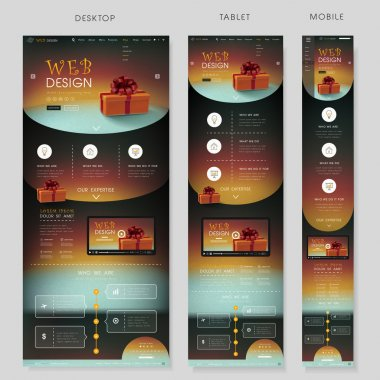 one page website template with holiday concept