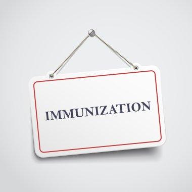 immunization hanging sign
