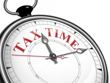 tax time concept clock