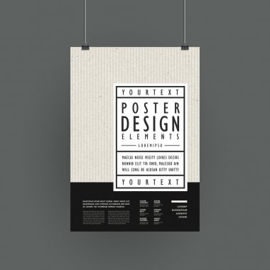 Modern poster template design in simplicity style clip art vector