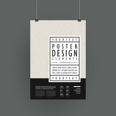 modern poster template design