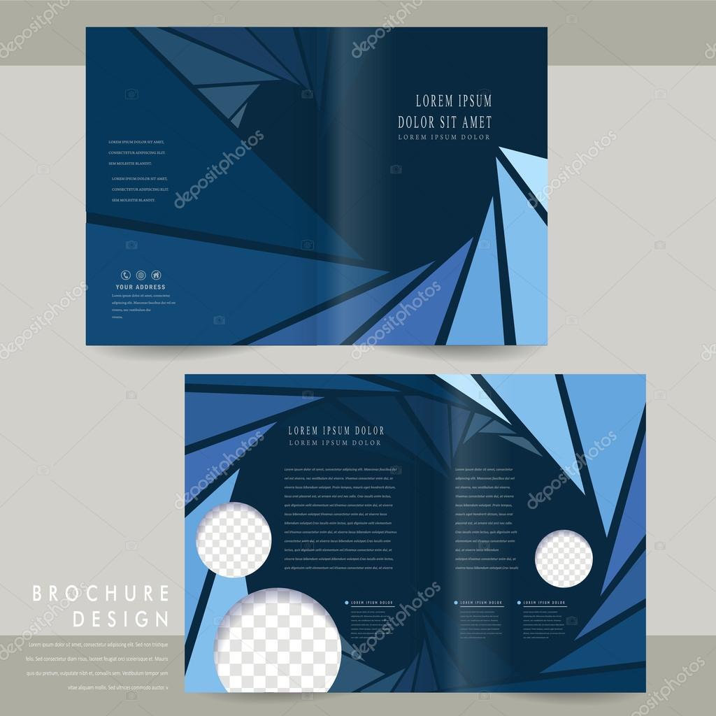 Modern Halffold Brochure Template Stock Vector Kchungtw - Half fold brochure template